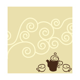 Coffee Wallpaper Design Prints by  guniita