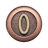 Metal Button Alphabet Letter Poster by  donatas1205