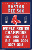 Boston Red Sox World Series Champions Plakater