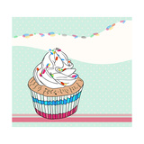 Cute Birthday Card With Cupcake Prints by cherry blossom girl