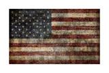 American Flag Background Prints by  alexfiodorov