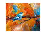Blue Cerulean Warbler Bird Posters par Boyan Dimitrov