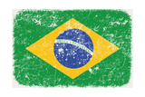 Grunge Styled Flag Of Brasil Prints by  adam.golabek