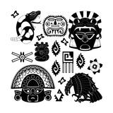 Ancient American Pattern Giclee-tryk i høj kvalitet af  Sateda
