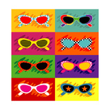 Collection Of Pop Art Sunglasses Art by  UltraPop