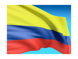 Flag Of Colombia Posters by  bioraven