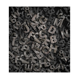 Old Metal Letters Background Affischer av  Andrey_Kuzmin