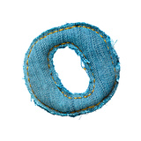Handmade Letter Of Jeans Alphabet Prints by  smaglov