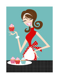 Cupcake Girl Posters by  PinkPig