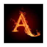 Fiery Font. Letter A Posters by  Misha