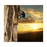 Rock Climber Prints by Andrushko Galyna