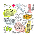 Sightseeing In Italy Posters by Alisa Foytik