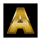 Letter A Prints by  Rudall30