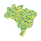 Map Of Brasil Prints by  aperitivi