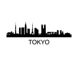 Tokyo Skyline Prints by  unkreatives