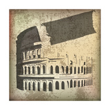 Colosseum Background Print by  Petrafler