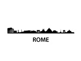 Skyline Of Rome Print by  unkreatives
