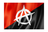 Anarchy Flag Prints by  daboost