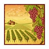 Vineyard Landscape Posters by Oleg Iatsun
