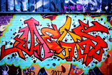 Graffiti Tag Thats Red Fotodruck von  sammyc