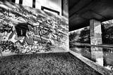 Amazing Light Bouncing Off Water Creating This Interesting Graffiti Shot Photographic Print by  sammyc