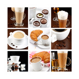 Set Of Coffee Drinks Prints by  maksheb