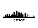 Skyline Detroit Poster by  unkreatives