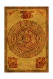 Maya Calendar Print by  frenta