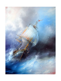 Seascape Sailboat Art by  yakimenko