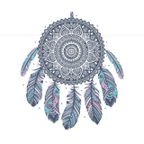Ethnic Dream Catcher Plakater af transiastock