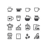 Coffee Icons Premium Giclee Print by  pking4th