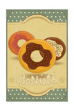 Donuts On Retro Card Prints by  elfivetrov