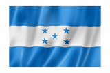 Honduras Flag Prints by  daboost