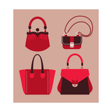 Woman Bags Print by  yemelianova