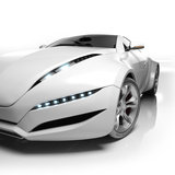 Sports Car Isolated On White Background. My Own Car Design. Not Associated With Any Brand Photographic Print by  Misha