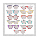 Retro Sunglasses Set Posters by cherry blossom girl