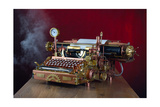 Steampunk Typewriter Poster by  3355m