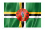 Dominica Flag Reproduction giclée Premium par  daboost