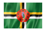 Dominica Flag Prints by  daboost