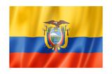 Ecuadorian Flag Print by  daboost