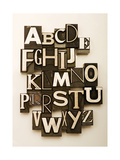 Alphabet Photographed Using A Mix Of Vintage Letterpress Characters Posters by  Space-Heater