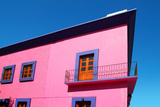 Mexican Pink House Facade Detail Wooden Doors Photographic Print by  holbox