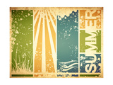 Vintage Summer Poster Prints by  SNR