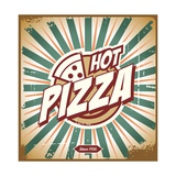 Vintage Pizza Sign Prints by  Lukeruk