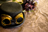 Steam Punk Top Hat With Goggles Photographic Print by Cora Reed