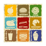 Vintage Food Icons Posters by  radubalint