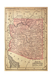 1880 Map Of Arizona Print by  twoellis