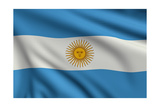 Flag Of Argentina Print by  metrs