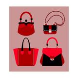 Woman Bags Prints by  yemelianova