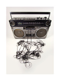 Tape Spewing Boombox Prints by  dubassy